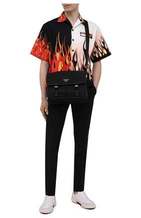 Мужская текстильная сумка PRADA черного цвета, арт. 2VD768-2DMH-F0002-OLO | Фото 2