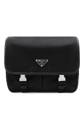 Мужская текстильная сумка PRADA черного цвета, арт. 2VD769-2DMH-F0002-OLO | Фото 1