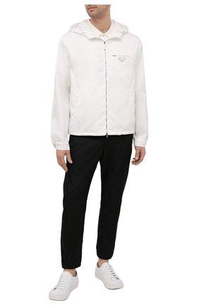 Мужская куртка PRADA белого цвета, арт. SGX685-1WQ8-F0009-211 | Фото 2