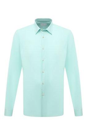 Мужская хлопковая рубашка PRADA зеленого цвета, арт. UCN122-F62-F064W-172   Фото 1