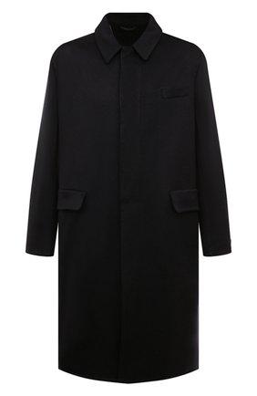 Мужской кашемировое пальто PRADA темно-синего цвета, арт. UC466X-1YE6-F0008-211 | Фото 1