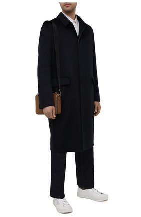 Мужской кашемировое пальто PRADA темно-синего цвета, арт. UC466X-1YE6-F0008-211 | Фото 2