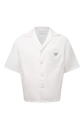 Мужская рубашка PRADA белого цвета, арт. SC449-1WQ8-F0009-182 | Фото 1