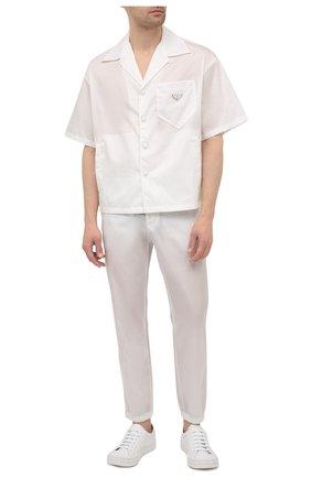 Мужская рубашка PRADA белого цвета, арт. SC449-1WQ8-F0009-182 | Фото 2