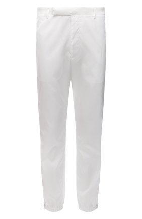 Мужские джоггеры PRADA белого цвета, арт. SPH109-1WQ8-F0009-211 | Фото 1 (Длина (брюки, джинсы): Стандартные; Материал внешний: Синтетический материал; Силуэт М (брюки): Джоггеры; Стили: Кэжуэл)