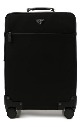 Мужской чемодан PRADA черного цвета, арт. 2VQ004-2DMH-F0002-OOO | Фото 1 (Материал: Текстиль; Ограничения доставки: oversized)
