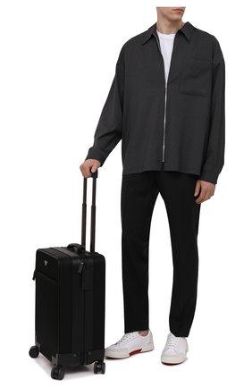 Мужской чемодан PRADA черного цвета, арт. 2VQ004-2DMH-F0002-OOO | Фото 2 (Материал: Текстиль; Ограничения доставки: oversized)