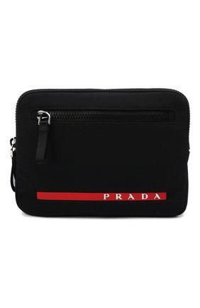 Мужская сумка PRADA черного цвета, арт. 2VL036-2DUG-F0002-OOO | Фото 1