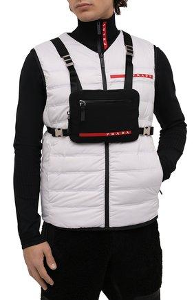 Мужская сумка PRADA черного цвета, арт. 2VL036-2DUG-F0002-OOO | Фото 2