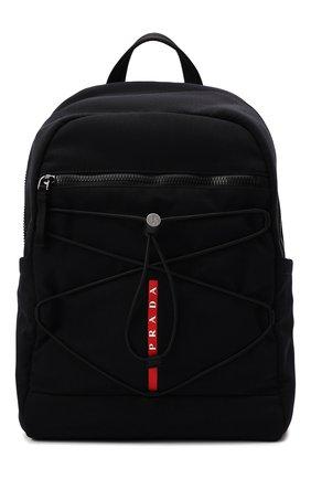 Мужской текстильный рюкзак PRADA черного цвета, арт. 2VZ085-2DUG-F0002-OOO | Фото 1
