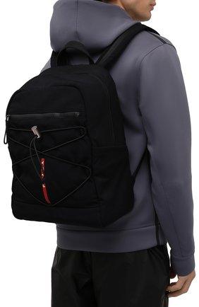 Мужской текстильный рюкзак PRADA черного цвета, арт. 2VZ085-2DUG-F0002-OOO | Фото 2