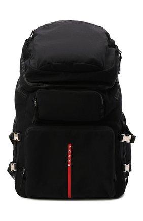 Мужской текстильный рюкзак PRADA черного цвета, арт. 2VZ086-2DUG-F0002-OOO | Фото 1