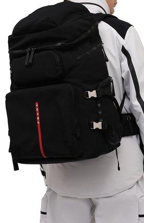 Мужской текстильный рюкзак PRADA черного цвета, арт. 2VZ086-2DUG-F0002-OOO | Фото 2