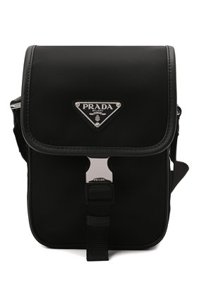 Мужская текстильная сумка PRADA черного цвета, арт. 2VD043-2DMH-F0002-OOO | Фото 1 (Материал: Текстиль; Ремень/цепочка: На ремешке)