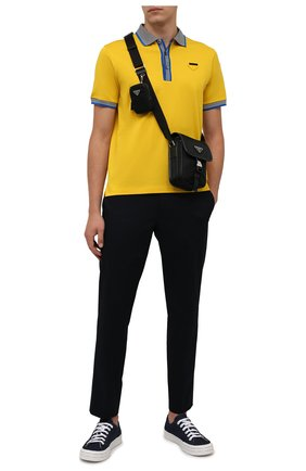 Мужская текстильная сумка PRADA черного цвета, арт. 2VD043-2DMH-F0002-OOO | Фото 2 (Материал: Текстиль; Ремень/цепочка: На ремешке)