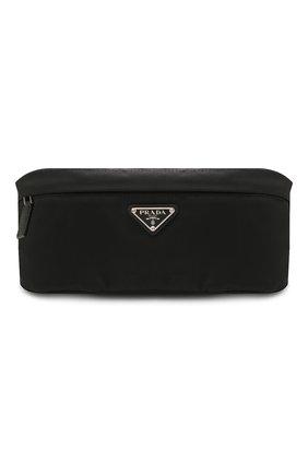 Мужская текстильная поясная сумка PRADA черного цвета, арт. 2VL034-2DMG-F0002-OOO | Фото 1