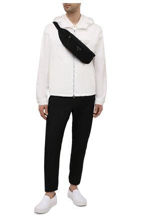 Мужская текстильная поясная сумка PRADA черного цвета, арт. 2VL034-2DMG-F0002-OOO | Фото 2