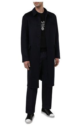Мужские текстильные кеды PRADA черного цвета, арт. 2TG177-GUD-F0002 | Фото 2