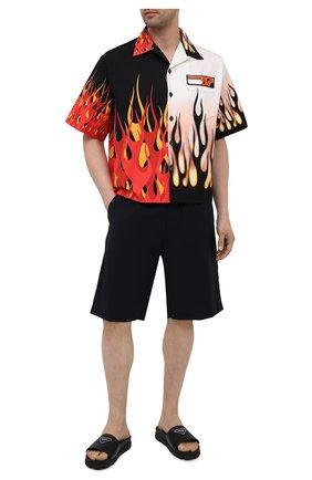 Мужские кожаные шлепанцы PRADA черного цвета, арт. 2X3060-A21-F0002 | Фото 2
