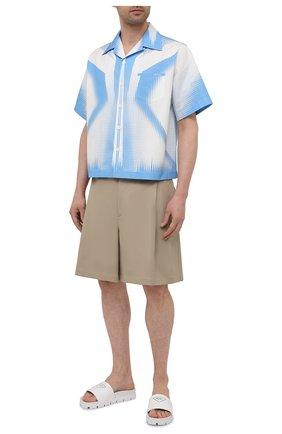 Мужские кожаные шлепанцы PRADA белого цвета, арт. 2X3060-A21-F0009 | Фото 2