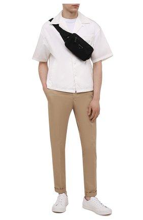 Мужская текстильная поясная сумка PRADA черного цвета, арт. 2VL977-2DMG-F0002-WOO | Фото 2 (Ремень/цепочка: На ремешке; Материал: Текстиль)