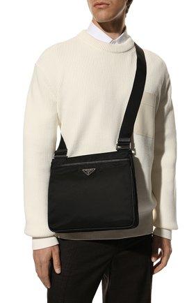 Мужская текстильная сумка PRADA черного цвета, арт. 2VH118-2DMH-F0002-OOO | Фото 2