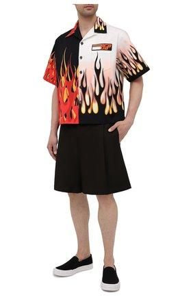 Мужские текстильные слипоны cassetta wheel PRADA черного цвета, арт. 2DG113-GUD-F0967-G000 | Фото 2