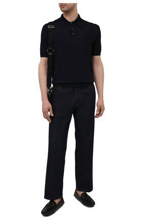 Мужские кожаные мокасины PRADA черного цвета, арт. 2DD159-053-F0002-U00I | Фото 2