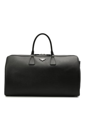 Мужская кожаная дорожная сумка PRADA черного цвета, арт. 2VC018-9Z2-F0002-OOO | Фото 1