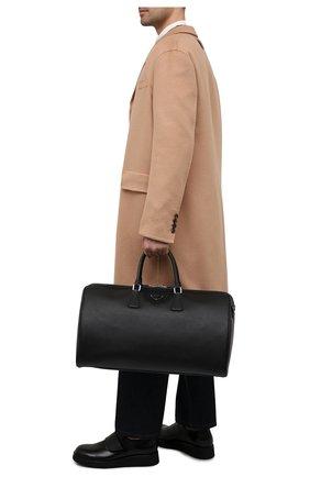 Мужская кожаная дорожная сумка PRADA черного цвета, арт. 2VC018-9Z2-F0002-OOO | Фото 2