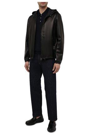Мужские кожаные пенни-лоферы PRADA черного цвета, арт. 4D3446-B4L-F0002 | Фото 2