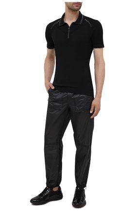 Мужские комбинированные кроссовки PRADA черного цвета, арт. 4E3400-ASZ-F0002   Фото 2
