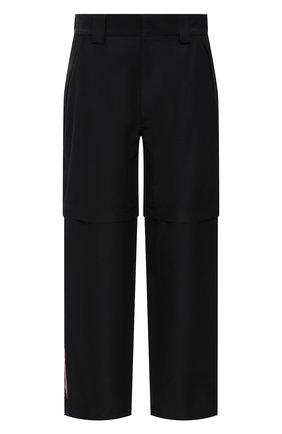 Мужские брюки PRADA черного цвета, арт. SPH55-1V94-F0002-201 | Фото 1