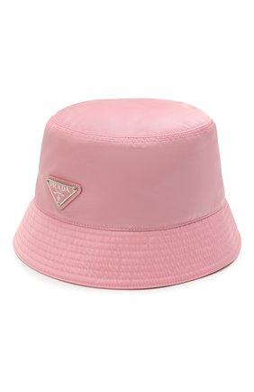 Женская панама PRADA розового цвета, арт. 1HC137-2DMI-F0028 | Фото 1 (Материал: Текстиль, Синтетический материал)