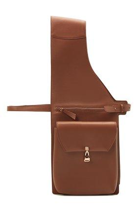 Женская поясная сумка GABRIELA HEARST коричневого цвета, арт. GH661-SADL | Фото 1
