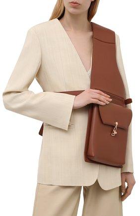 Женская поясная сумка GABRIELA HEARST коричневого цвета, арт. GH661-SADL | Фото 2