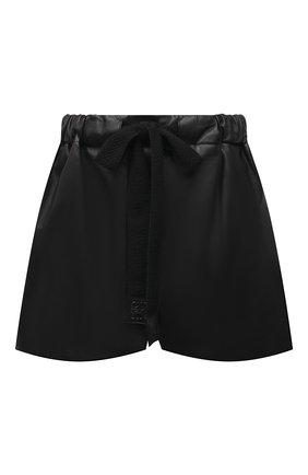 Женские кожаные шорты LOEWE черного цвета, арт. S359Y20L10 | Фото 1 (Длина Ж (юбки, платья, шорты): Мини; Материал подклада: Хлопок; Женское Кросс-КТ: Шорты-одежда)