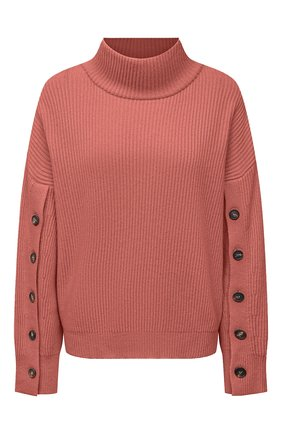 Женский кашемировый свитер BRUNELLO CUCINELLI розового цвета, арт. M12714704   Фото 1 (Материал внешний: Шерсть, Кашемир; Длина (для топов): Стандартные; Рукава: Длинные; Стили: Кэжуэл; Женское Кросс-КТ: Свитер-одежда)