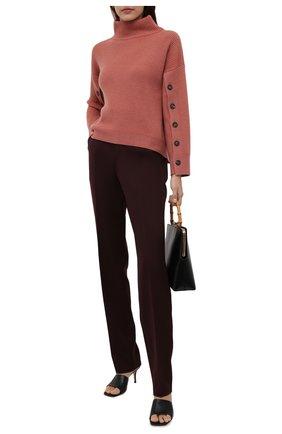 Женский кашемировый свитер BRUNELLO CUCINELLI розового цвета, арт. M12714704   Фото 2 (Материал внешний: Шерсть, Кашемир; Длина (для топов): Стандартные; Рукава: Длинные; Стили: Кэжуэл; Женское Кросс-КТ: Свитер-одежда)