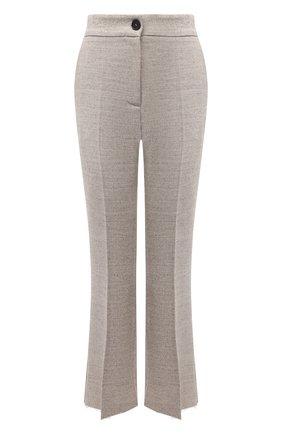 Женские брюки из хлопка и шерсти ERIKA CAVALLINI бежевого цвета, арт. W1/P/P1WV04 | Фото 1