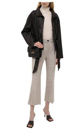 Женские брюки из хлопка и шерсти ERIKA CAVALLINI бежевого цвета, арт. W1/P/P1WV04 | Фото 2