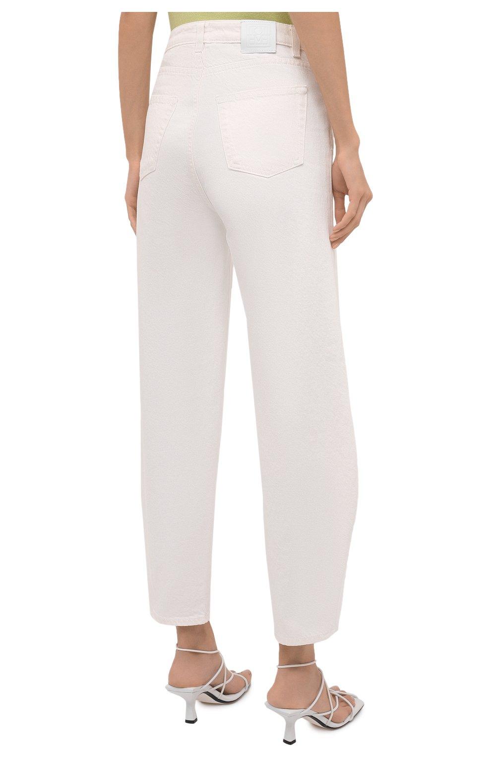 Женские джинсы TOTÊME белого цвета, арт. 211-238-748 | Фото 4