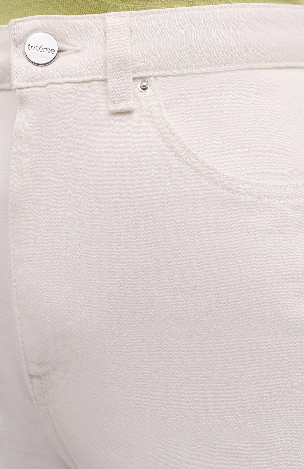 Женские джинсы TOTÊME белого цвета, арт. 211-238-748 | Фото 5