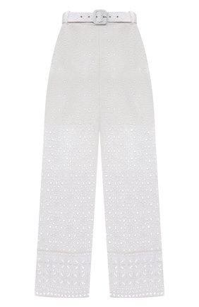 Женские хлопковые брюки CHARO RUIZ IBIZA белого цвета, арт. 213501 | Фото 1