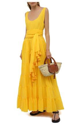Женское хлопковое платье ERIKA PENA желтого цвета, арт. CARMENMAXIDRESS   Фото 2