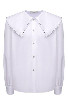 Женская хлопковая рубашка ALESSANDRA RICH белого цвета, арт. FAB2612-F3198   Фото 1