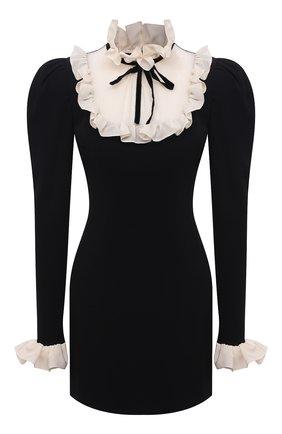 Женское платье из вискозы ALESSANDRA RICH черного цвета, арт. FAB2615-F2464   Фото 1