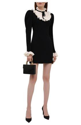 Женское платье из вискозы ALESSANDRA RICH черного цвета, арт. FAB2615-F2464   Фото 2
