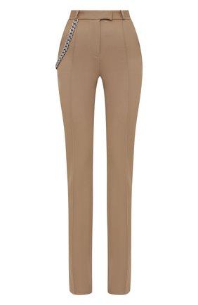 Женские шерстяные брюки GIUSEPPE DI MORABITO бежевого цвета, арт. PF21050PA-136C | Фото 1