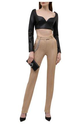 Женские шерстяные брюки GIUSEPPE DI MORABITO бежевого цвета, арт. PF21050PA-136C | Фото 2